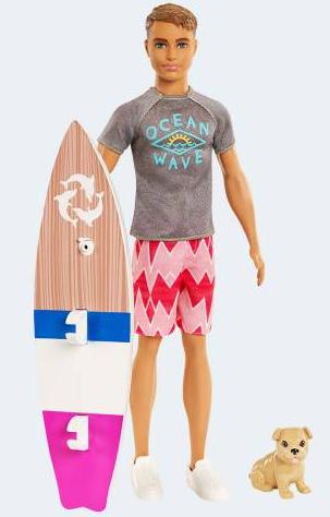 Image of   Barbie dukke, FBD71 Delfinernes Magi, Surfer Ken