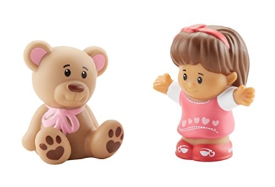 Image of   Fisher Price Little People - Mia med bamse