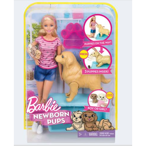 Image of   Barbie dukke, FDD43 Barbie med hund