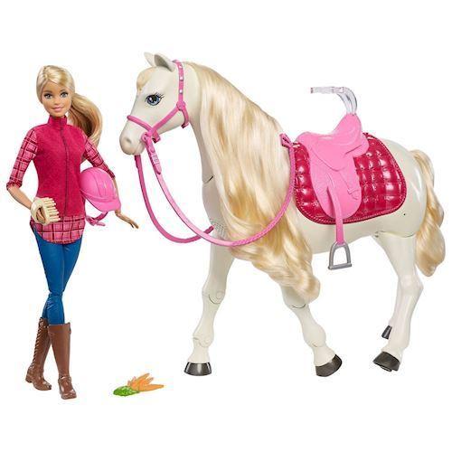 Image of   Barbie med drømmehest