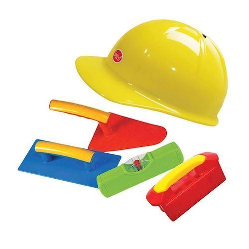 Image of   Byggesæt, sandkasse, Hjelm med bygge værktøj