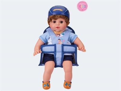 Image of   Baby dukke, Ben med hår 36cm