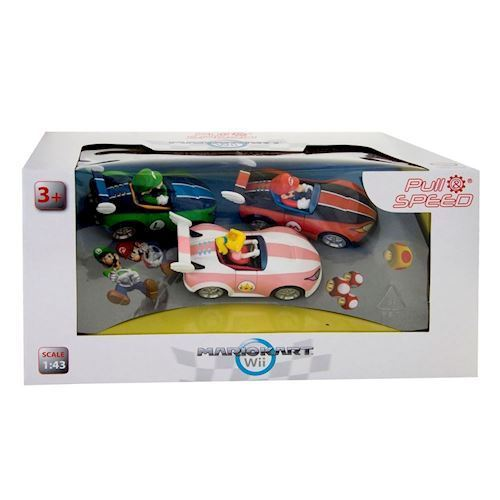 Image of   Super Mario Pull Back biler, 3 dele