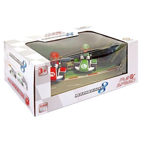 Image of   Super Mario racerbil med Pull Back, 2 stk