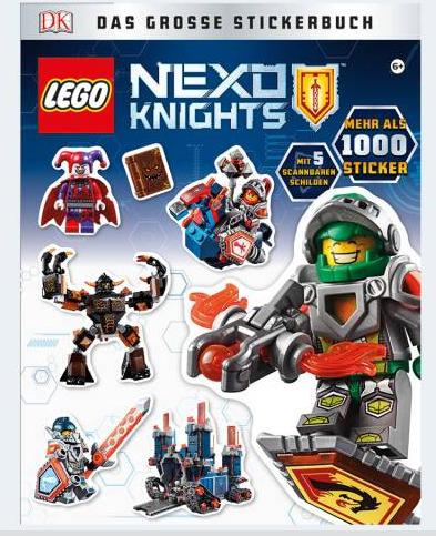 Image of   LEGO NEXO NIGHTS stor klistermærkebog