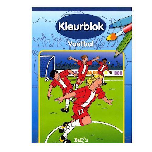 Image of   Maleblok, fodbold