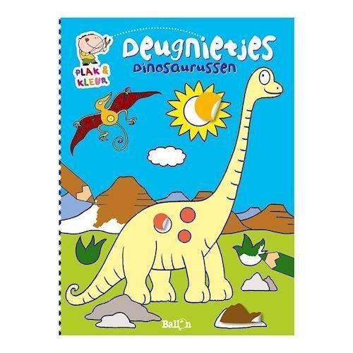Malebog med klistermærker, dinosaur
