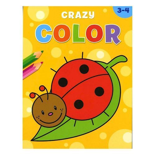 Image of   Crazy Color malebog 3-4 år