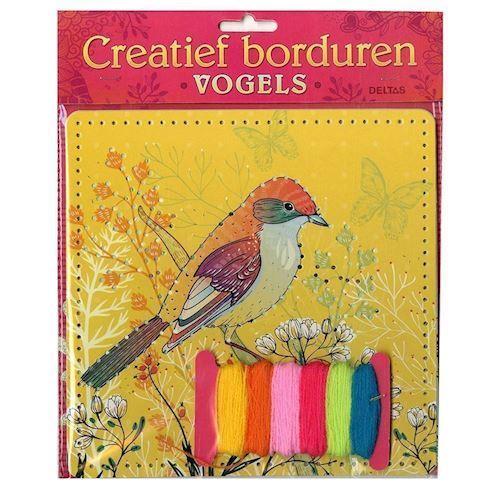 Kreativ broderi fugle