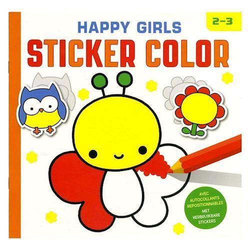 Klistermærker og male, pige