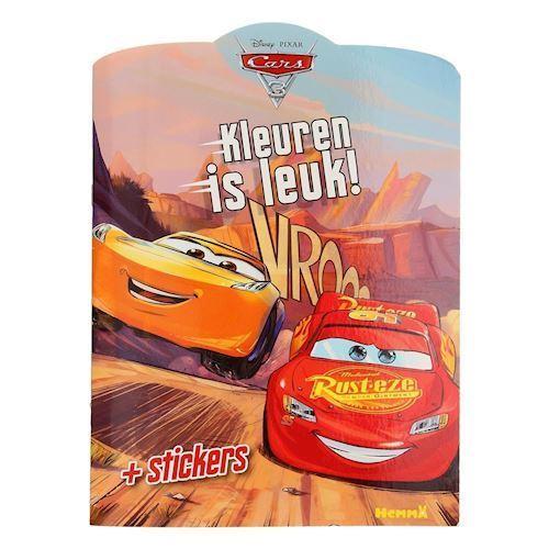 Disney Cars 3, malebog med klistermærker