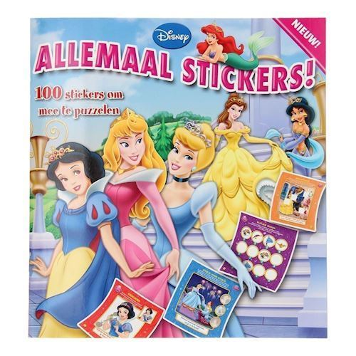 Image of Disney Princess bog med klistermærker