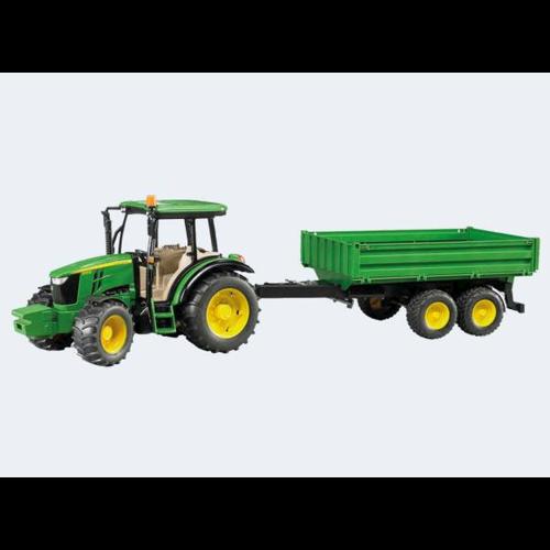 Image of Bruder Traktor 45cm John Deere 5115M med tippelad trailer