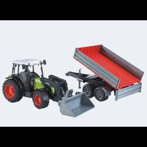 Image of Bruder Traktor Claas Nectis 267 F med tippelad