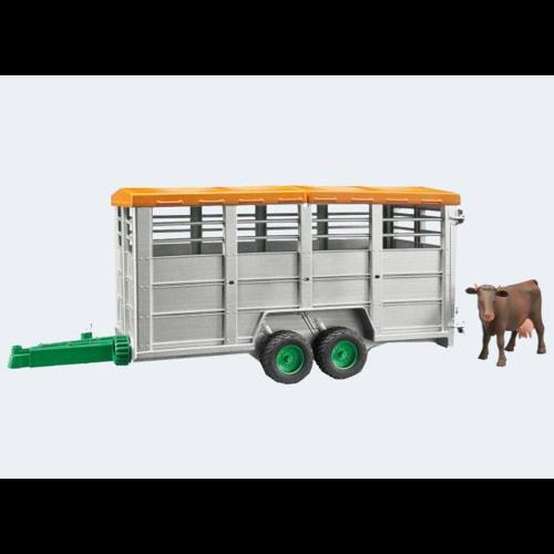 Image of Bruder dyretransport anhænger med 1 ko