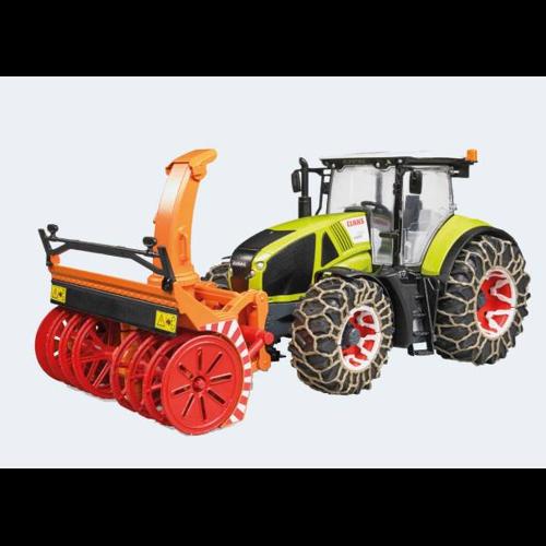 Image of Bruder Traktor 45Cm Claas Axion 950 Med Snerydder