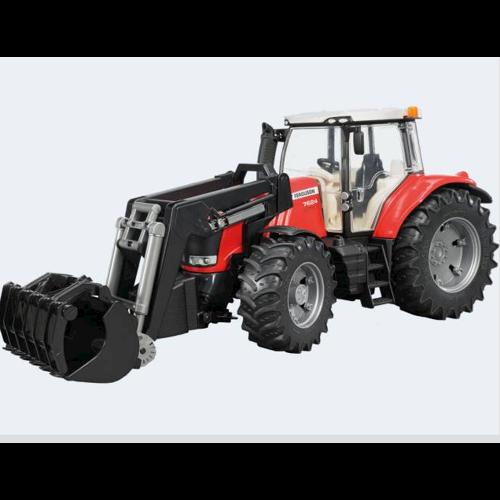 Image of Bruder Traktor 34cm Massey Ferguson 7600 med frontlæsser