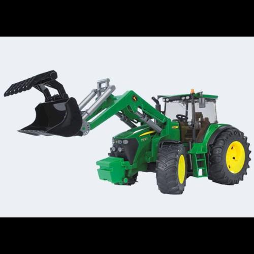 Image of Bruder Traktor 44cm John Deere 7930 styrbar frontlæsser