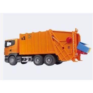 Image of Bruder Skraldebil Scania Orange 62Cm