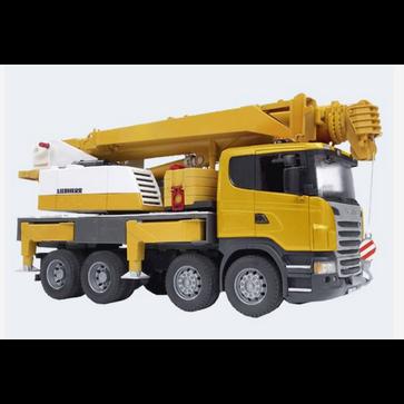 Image of Bruder Lastbil Scania Lkw Med Kran Liebherr 62Cm