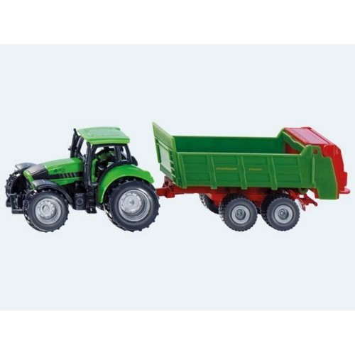 Image of Siku Traktor med universal trailer (4006874016730)