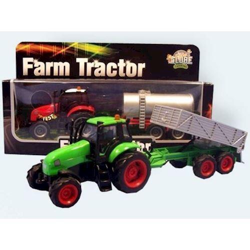 Image of Traktor med anhænger 1:32 (8713219244432)