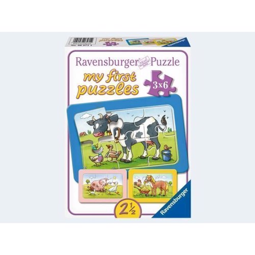 Image of Ravensburger My first rammepuslespil dyrevenner
