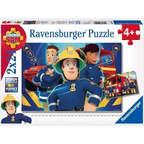 Image of Ravensburger Puslespil 2x24 brikker Brandmand Sam