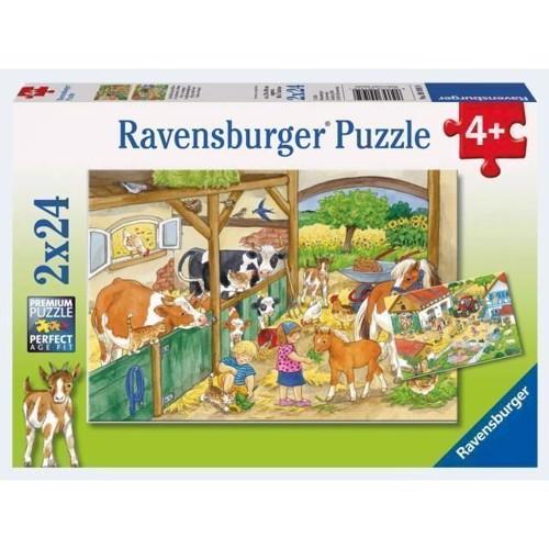 Image of Ravensburger Puslespil 2x24 brikker bondegård