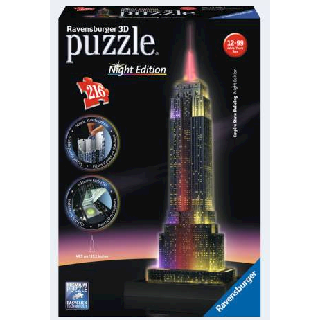 Image of Ravensburger 3D Puslespil Empire State Building 216 dele night edition