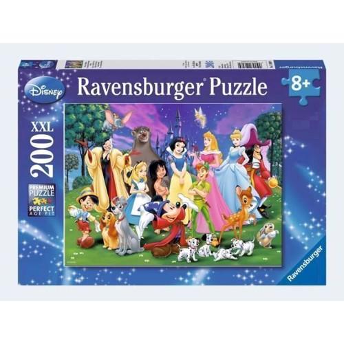 Image of Ravensburger Puslespil 200 brikker XXL Disney yndlings