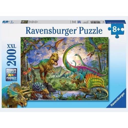Image of Ravensburger Puslespil 200 brikker XXL dinosaur land