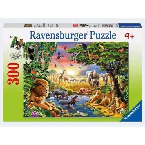 Image of Ravensburger Puslespil 300 brikker dyr ved vandhullet