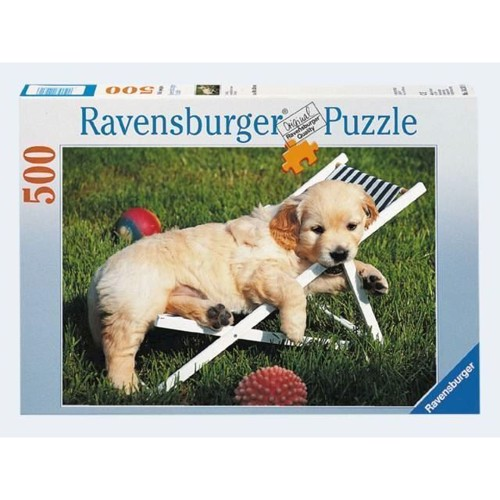 Image of Ravensburger Puslespil 500 brikker Golden Retriever