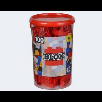 Image of Blox 100 røde byggeklodser (4006592489052)