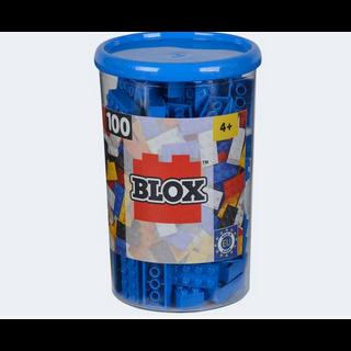 Image of Blox 100 blå byggeklodser (4006592489069)