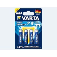 Batteri 4 stk VARTA Micro 1,5 AAA LR3 High Energy