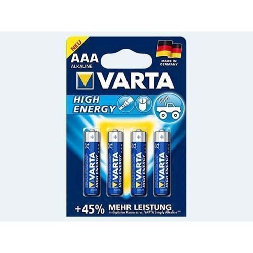 Image of Batteri 4 stk VARTA Micro 1,5 AAA LR3 High Energy (4008496810284)
