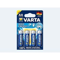 Batteri 4 stk VARTA  AA LR6 High Energy