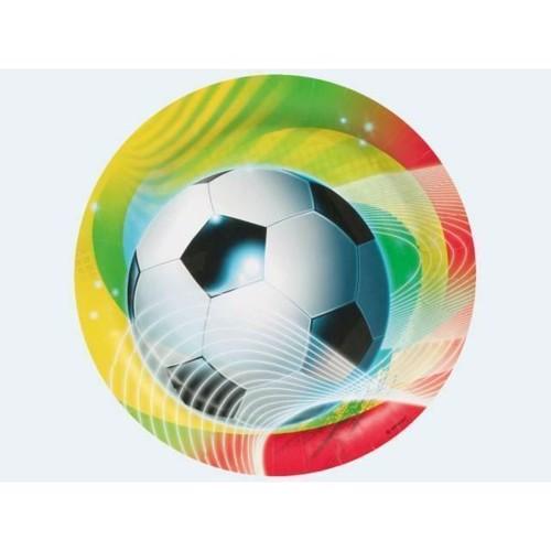 Image of 8 engangstallerkner, fodbold