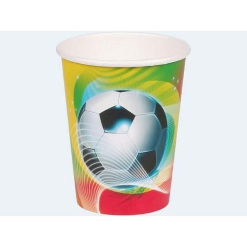 Image of   8 engangskrus, Fodbold 0,25l
