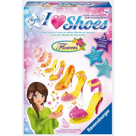 Image of   Ravensburger Sko designer I Love Shoes Midi Pumps Flowers