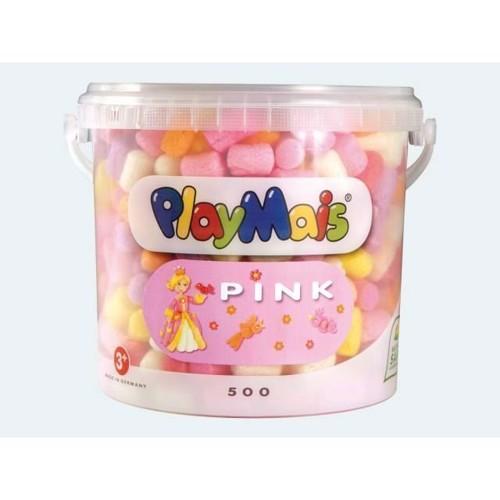 Image of PlayMais BASIC, 500 stk i lyserød og tilbehør