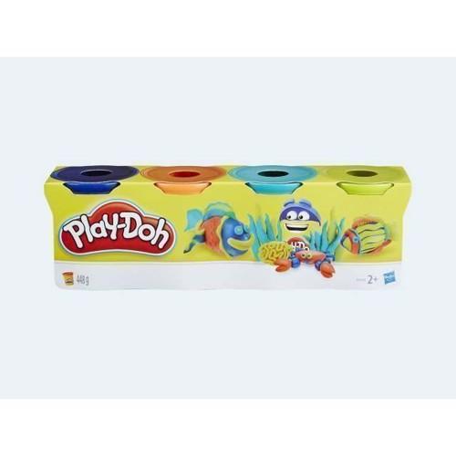 Image of Play Doh, 4 forskellige farver modellervoks