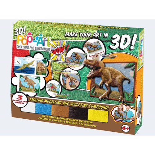 Image of   Pop Art 3D dinosaur