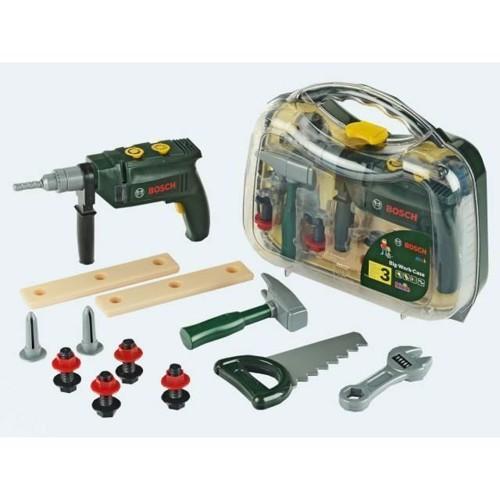 Bosch Legetøj, Kuffert Med Værktøj & Skruemaskine 12 Dele