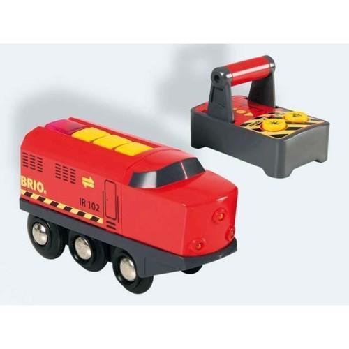 Image of BRIO IR fragt lokomotiv med lys og lyd. Fjernstyret