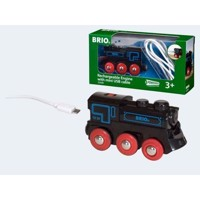 BRIO sort tog med mini USB lader