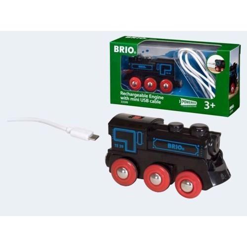 Image of BRIO sort tog med mini USB lader