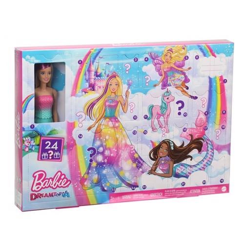 Barbie Dreamtopia Julekalender med dukke - 2020
